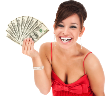Woman happy with quick payday loan